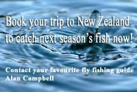 Book your guide now for next fishing season in NZ.