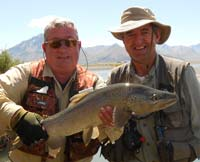 Alan Campbell can help you find the right fishing holes to hook a large trout.
