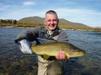Franck with a lovely Tekapo brown trout