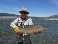 Jacques with a quality high country brown trout.