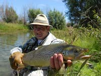 Jacques with a nice Twizel River brownie