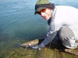 Fly fishing and catch and release for trout in New Zealand