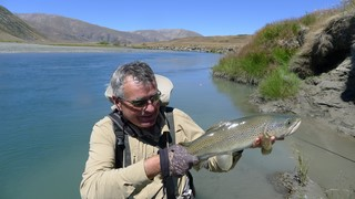 Another trout landed with fishing guide Alan Campbell